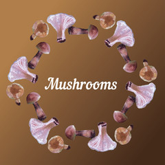 Illustration with mushrooms