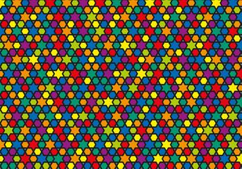 Fond géométrique multicolor