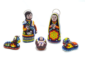 huichol nativity scene christmas decoration