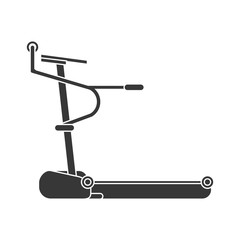 machine healthy lifestyle gym fitness icon. Flat and Isolated design. Vector illustration