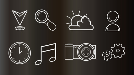icons for web and mobile design