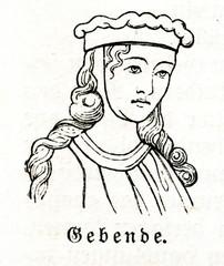 Gebende or fillet (from Meyers Lexikon, 1895, 7 vol.)