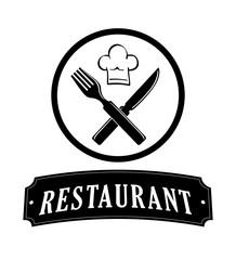 Restaurant icon concept with icon design, vector illustration 10 eps graphic.