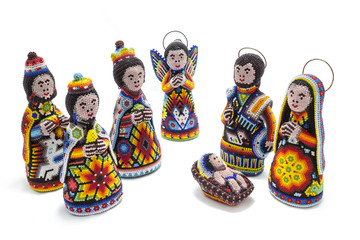 huichol nativity scene with magic kings