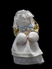 fabic handmade angel for christmas decoration