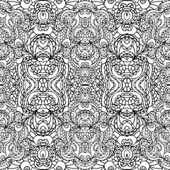 Abstract symmetry swirl seamless pattern.Outline