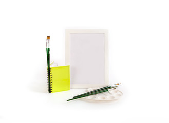 photo frame, notebook,  poster