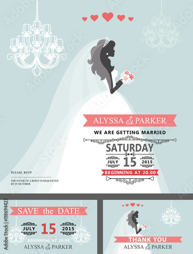 wedding bridal shower invitationcartoon bridechandelier