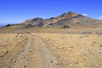 White Mountain Peak, California 14er on the Nevada border in the White Mountain Range, opposite the Sierra Nevada Mountains