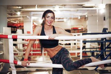Woman at boxing ring