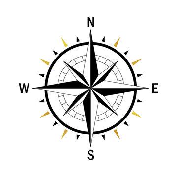 gold black compass
