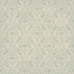 Seamless background of light beige and blue  color in the style of Damascus