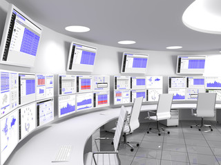 """A network operations center or NOC also called a """"network management center"""", is a locations from which network monitoring and control, or network management, is exercised over a network."""