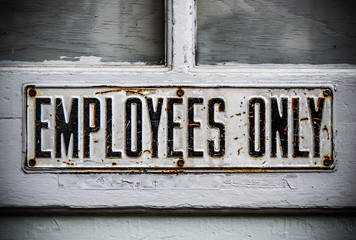 Employee Only Sign