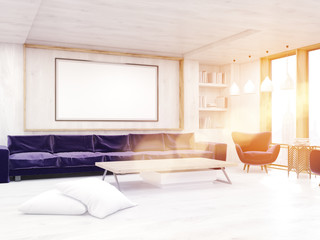 Bright sun light in living room