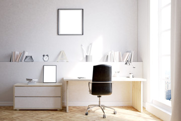 Home office with two posters