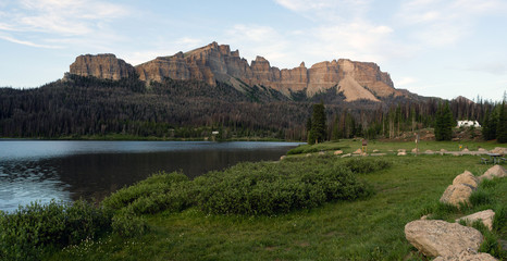 Brooks Lake Campground Pinnacle Buttes Togwotee Pass Wyoming