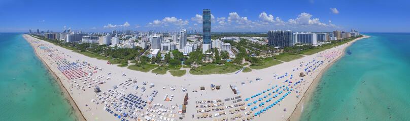 Aerial panorama Miami Beach