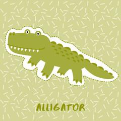 Alligator : Cute Animal Set :  Vector Illustration