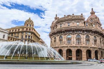 Piazza De Ferrari main square in Genoa