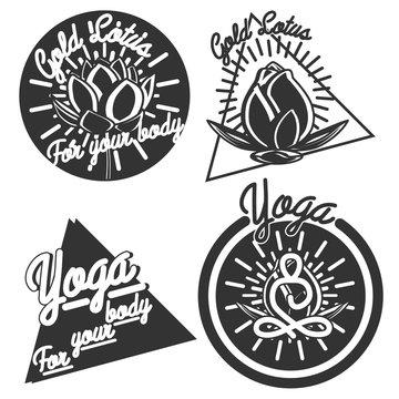 Vintage yoga emblems