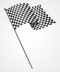 Illustration of a racing flag