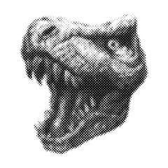 Trex Dinosaur Vector hand drawn background.