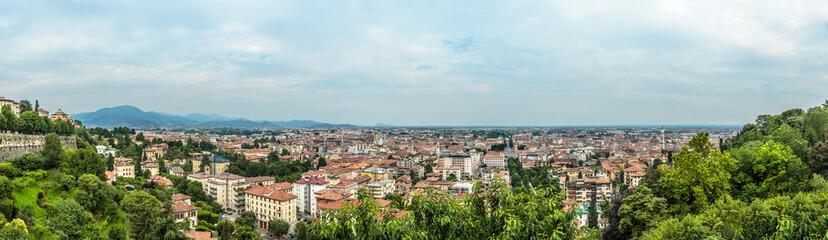 Bergamo city panoramic view