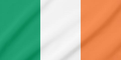Waving flag of Ireland
