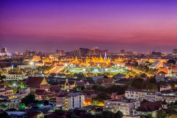 Wat Phra Kaew, Temple of the Emerald Buddha,Grand palace at twil