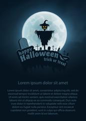Happy Halloween Vector Flyer