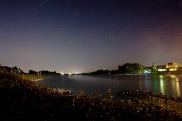 Holme Pierpont Water Sports Centre at Night