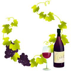 フレーム・赤ワイン
