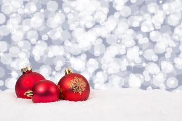 Rote Weihnachtskugeln Weihnachten Hintergrund Weihnachtskarte De