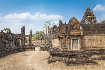 Banteay Samre hindu temple, Angkor, Cambodia. Blue sky background