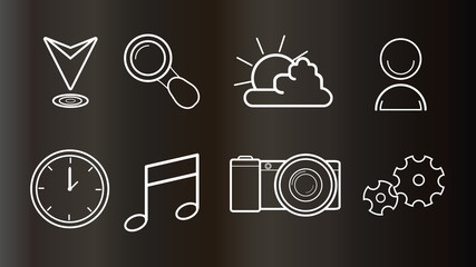 vector illustration icons for web and mobile design