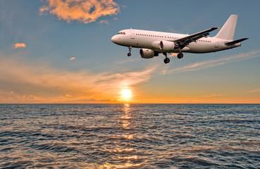Flight of the plane.