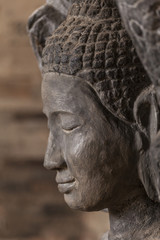 Buddha head profile in the East Mebon temple, Angkor, Cambodia