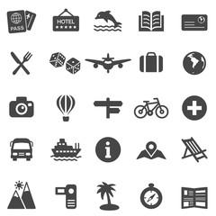 Travel Icons. Black Series