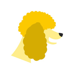 Poodle dog icon in flat style isolated on white background. Animals symbol