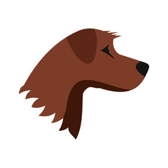 Dog icon in flat style isolated on white background. Animals symbol