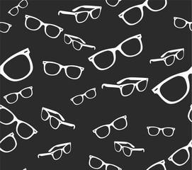 Seamless spectacles, glasses pattern, eyeglasses, specs. Sunglasses