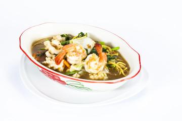white noodle gravy sauce