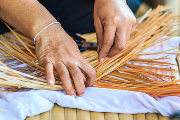 Weave pattern with bamboo or Bamboo weaving from handmade