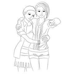 Two cute girls in love