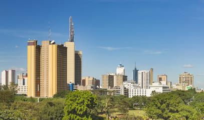 Wall Mural - Nairobi Park And Skyscrapers Panorama, Kenya