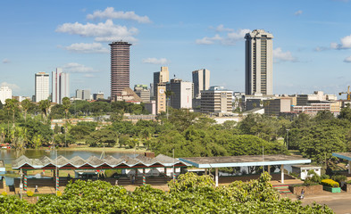 Wall Mural - Nairobi Skyline And Uhuru Park, Kenya