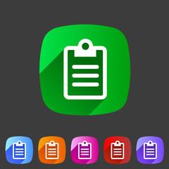 Clipboard checklist rules icon flat web sign symbol logo label