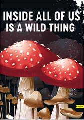 Fresh mushroom in two pieces illustration