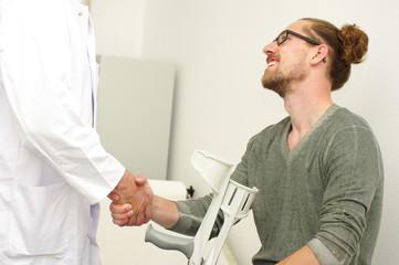 Arztbesuch, Gespräch